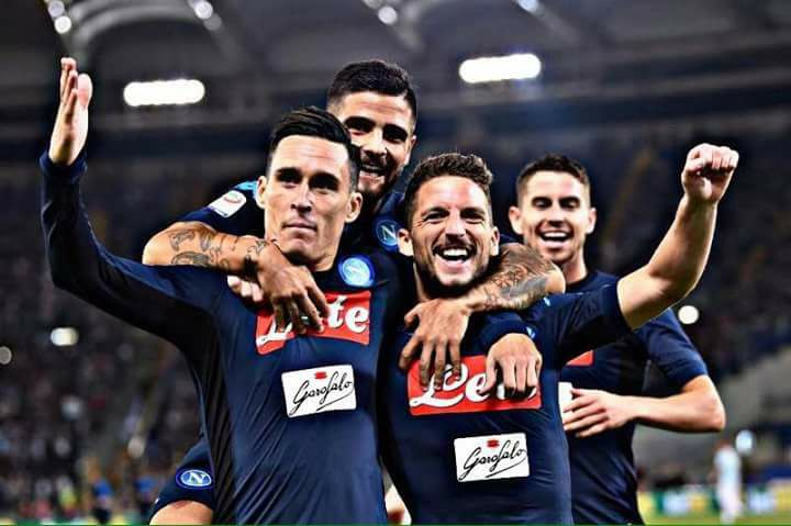 EURO-NAPOLI: IN VETTA ALLA CLASSIFICA EUROPEA DELLA MEDIA GOL !